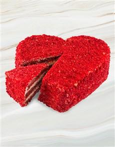 bakery: Chateau Gateaux Red Velvet Heart 4 Slice Cake!