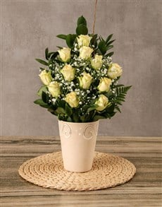 Arrangement of Cream Roses