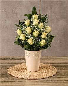 Picture of Arrangement of Cream Roses!