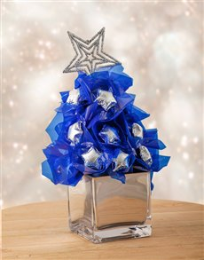 flowers: Silver and Blue Edible Arrangement!