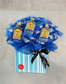 gifts: Gin and Dark Choc Edible Arrangement!