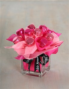 gifts: Cerise Caramel Heart Arrangement!
