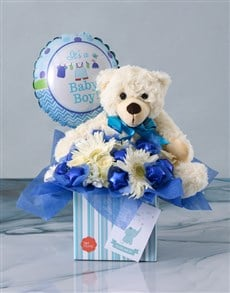gifts: Baby Boy Blue Kicks Edible Arrangement!