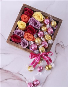 flowers: Delightful Roses and Lindt Crate!