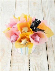 gifts: Pink & Gold Star Cupcake Arrangement!