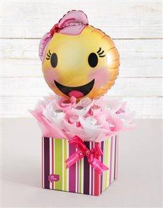 flowers: Happy Emoticon Caramel Heart Arrangement!