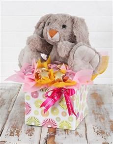 gifts: Cuddly Rabbit and Choc Star Box!