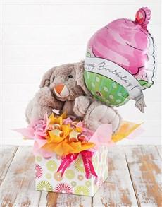 flowers: Rabbit Choc Stars and Birthday Balloon Box!