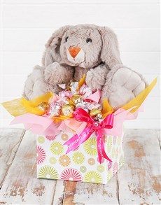 gifts: Cuddly Rabbit and Lindt Box!