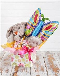 gifts: Rabbit Lindt and Butterfly Balloon Box!
