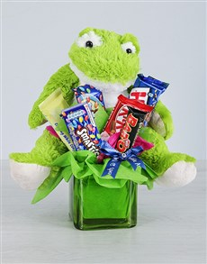 flowers: Green Frog and Chocolate Gift!