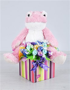 flowers: Pink Froggy and Lindt Box!
