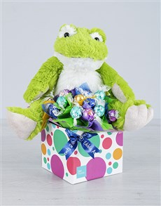 gifts: Green Froggy and Lindt Box!