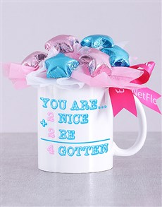 flowers: Too Nice Choc Star Mug Arrangement!