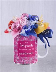 flowers: Best Grandparents Lindt Mug Arrangement!