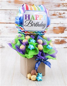 flowers: Happy Birthday Balloon Edible Arrangement!