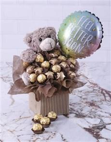 gifts: Choc Teddy Feel Better Edible Arrangement!