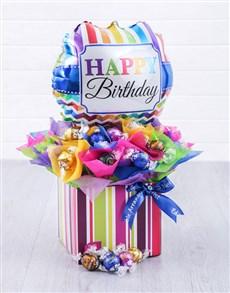 flowers: Birthday Balloon Lindt Edible Arrangement!