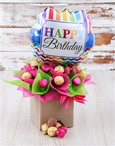 gifts: Pretty In Pink And Green Edible Arrangement!