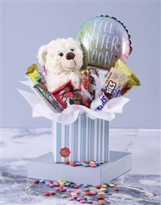gifts: Get Well Teddy and Chocolate Box!