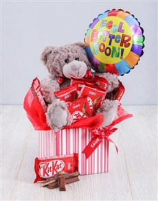 gifts: Get Well Kit Kat and Teddy Box!