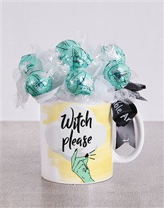 gifts: Witch Please Lindt Mug Arrangement!