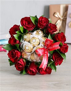 flowers: Red Rosy Chocolate Arrangement!