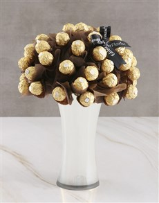 flowers: Gold Ferrero Edible Arrangement!