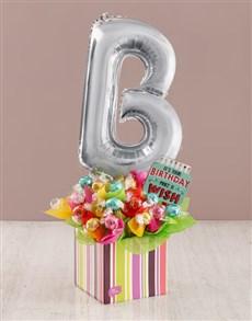 flowers: Your Birthday B Balloon Edible Arrangement!