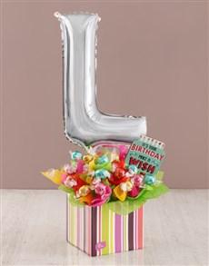 flowers: Your Birthday L Balloon Edible Arrangement!