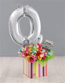 flowers: Your Birthday Q Balloon Edible Arrangement!