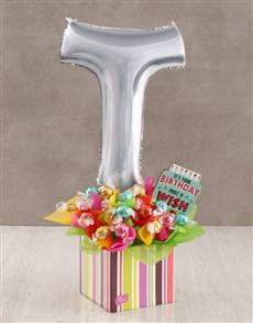 flowers: Your Birthday T Balloon Edible Arrangement!