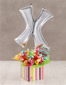flowers: Your Birthday X Balloon Edible Arrangement!