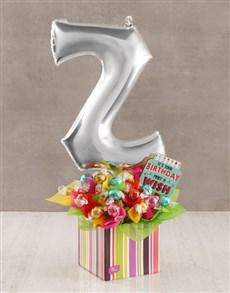 flowers: Your Birthday Z Balloon Edible Arrangement!