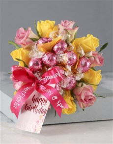 flowers: Colourful Edible Birthday Bouquet!