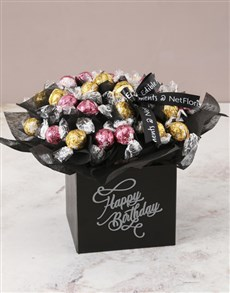 flowers: Refined Lindt Truffle Birthday Bouquet!
