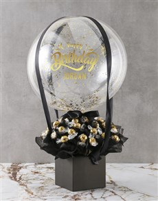 flowers: Birthday Balloon Edible Arrangement!