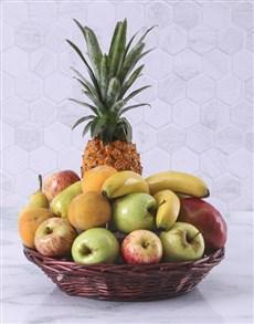 flowers: Fruit Gift Basket!