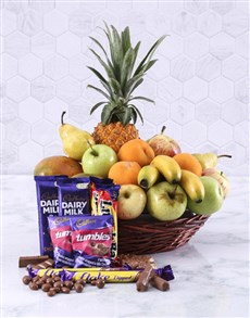 gifts: Fresh Fruit and Sweet Treats Basket!