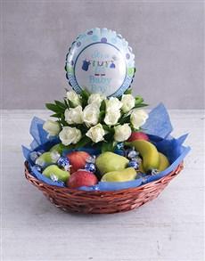 gifts: Baby Boy Fruit Fantasy Basket!