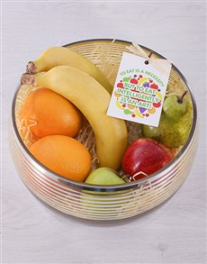 gifts: Silver and Gold Fruit Bowl!