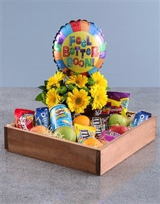 gifts: Feel Better Balloon and Treat Crate!