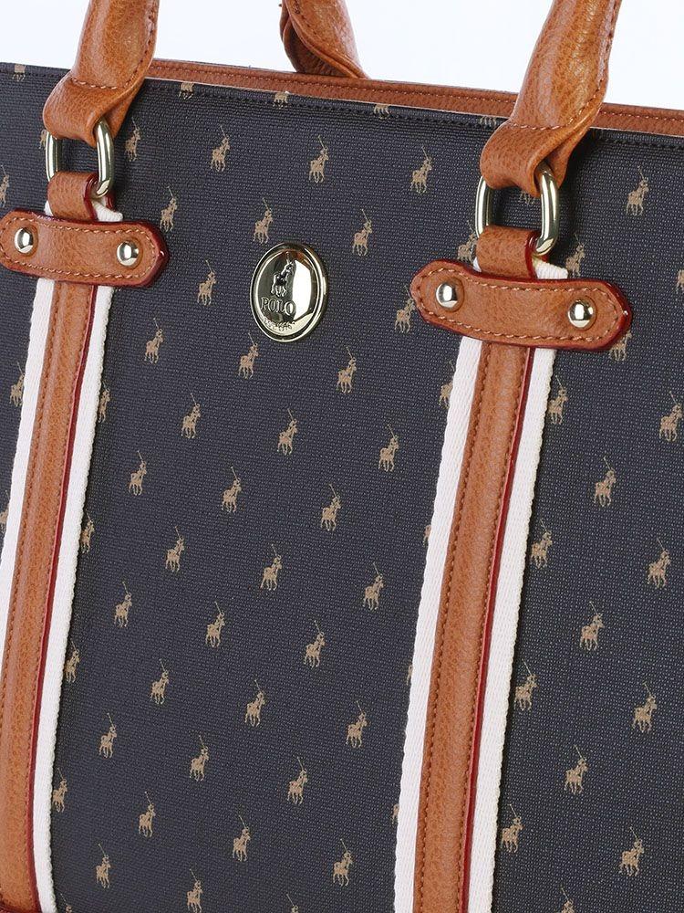 brand: Polo Heritage Tote Handbag Brown!