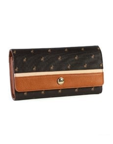 brand: Polo Heritage Trifold Purse Brown!