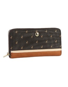 gifts: Polo Heritage Zip Around Purse Brown!