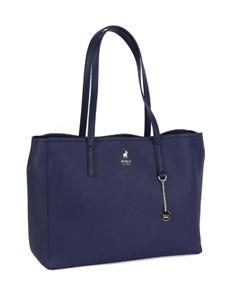 brand: Polo Lyone Pebble Tote Handbag Navy!