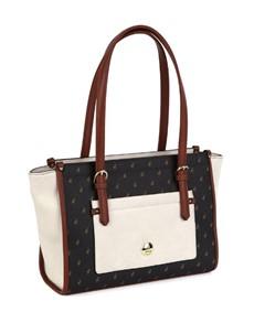 brand: Polo Stradford Tote Handbag Cream!