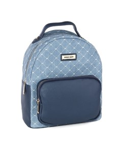brand: Sissy Boy Printed Denim Backpack Blue!