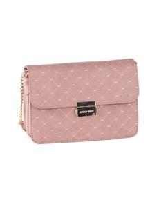 brand: Sissy Boy Printed Denim Sling Handbag Pink!