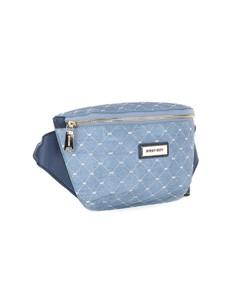 brand: Sissy Boy Printed Denim Crossbody Blue Handbag!